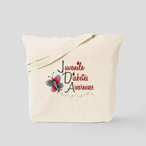 Juvenile Diabetes Awareness 1 Butterfly 2 Tote Bag