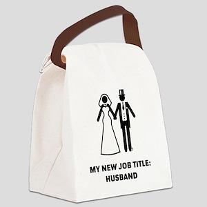 My New Job Title: Husband (Groom Canvas Lunch Bag