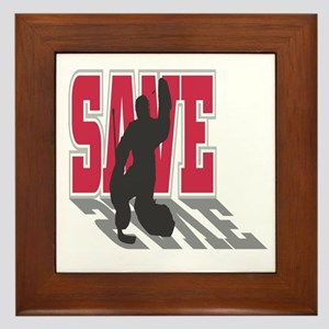 Hockey Goalie: Save Framed Tile