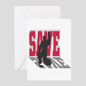 Hockey Goalie: Save Greeting Card