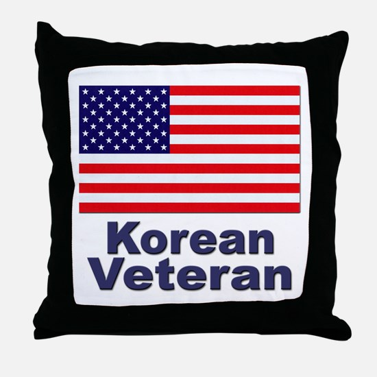 Korean Veteran Throw Pillow