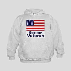 Korean Veteran (Front) Kids Hoodie