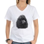 Black or Chocolate Poodle Women's V-Neck T-Shirt