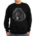 Shadow, Standard Poodle Sweatshirt (dark)