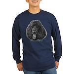 Shadow, Standard Poodle Long Sleeve Dark T-Shirt