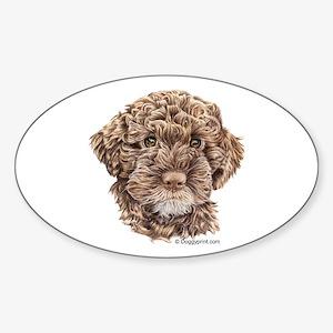 Lagotto Oval Sticker