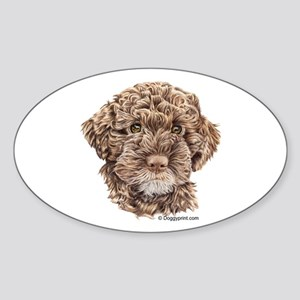 Lagotto Oval Sticker