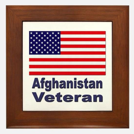 Afghanistan Veteran Framed Tile