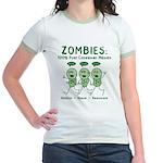Zombies (Green) Jr. Ringer T-Shirt