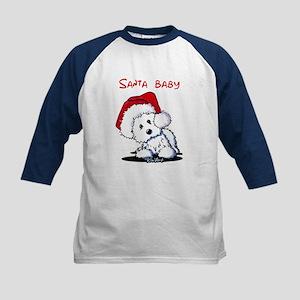 Santa Baby Westie Kids Baseball Jersey