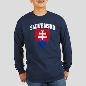 Slovakia Long Sleeve Dark T-Shirt
