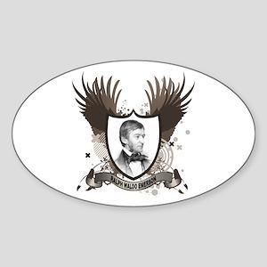 Ralph Waldo Emerson Oval Sticker