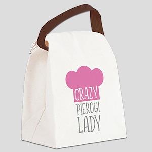 Crazy Pierogi Lady Canvas Lunch Bag