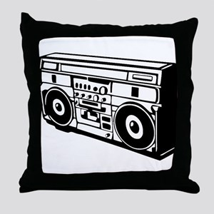 Ghettoblaster - DJ - Musi Throw Pillow