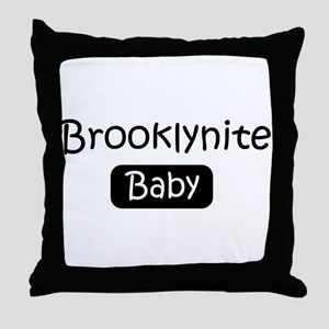Brooklynite baby Throw Pillow