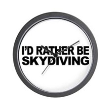 I'd Rather Be Skydiving Wall Clock