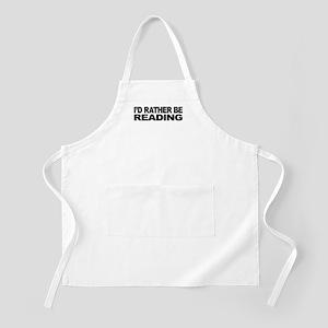I'd Rather Be Reading BBQ Apron