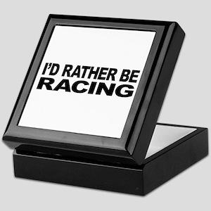 I'd Rather Be Racing Keepsake Box