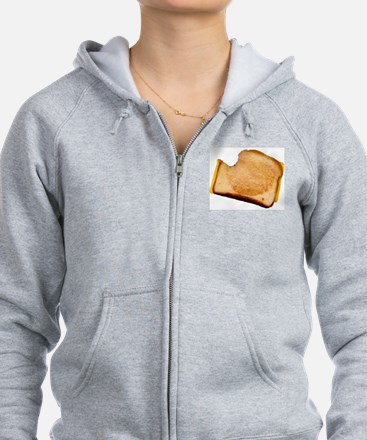 Plain Grilled Cheese Sandwich Zip Hoodie