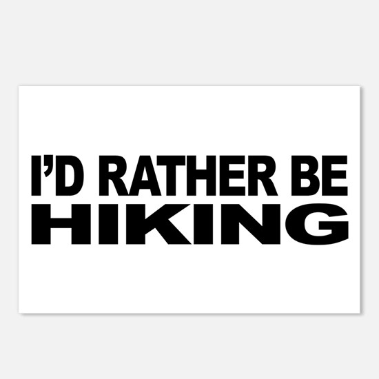 I'd Rather Be Hiking Postcards (Package of 8)