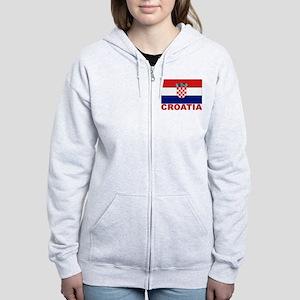 Croatia Flag Women's Zip Hoodie