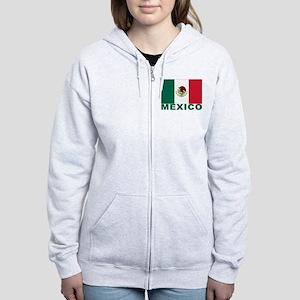 Mexico Flag Women's Zip Hoodie