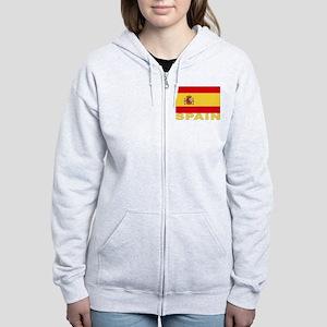 Spain Flag Women's Zip Hoodie