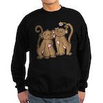 Cute Monkey Couple Sweatshirt (dark)