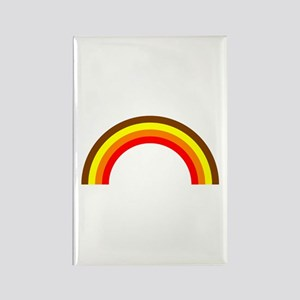 Brown Rainbow Rectangle Magnet