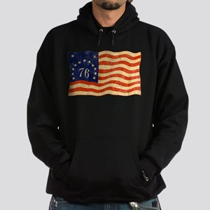 Retro 1776 American Flag Hoodie (dark)