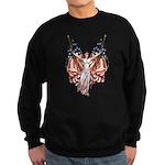 Vintage American Flag Art Sweatshirt (dark)