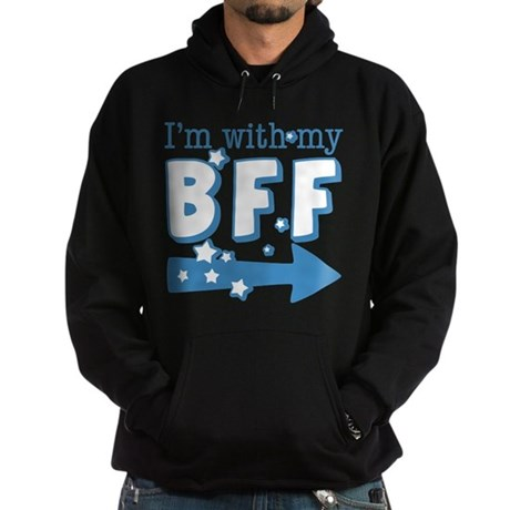 I'm with My BFF (RIGHT) Hoodie (dark)