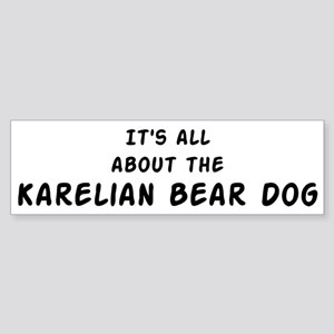 about the Karelian Bear Dog Bumper Sticker
