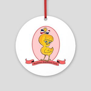 Dominican Republican Chick Ornament (Round)