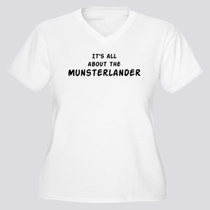 about the Munsterlander Women's Plus Size V-Neck T
