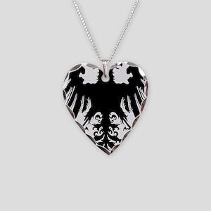 Holy Roman Empire Eagle Tanks Necklace Heart Charm