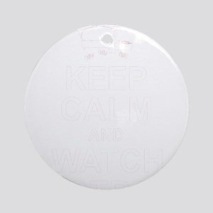 Keep Calm and Watch Football Round Ornament