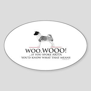 oddFrogg Akita Woo WOO Bumper Sticker