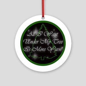 Yarn Christmas Ornament (Round)