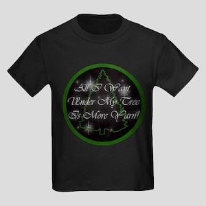 Yarn Christmas Kids Dark T-Shirt