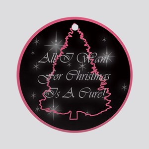A Cure For Christmas Ornament (Round)