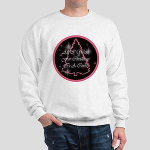 A Cure For Christmas Sweatshirt