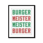 Burger Meister Meister Burger Framed Panel Print