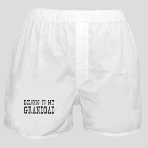 Belongs to Granddad Boxer Shorts