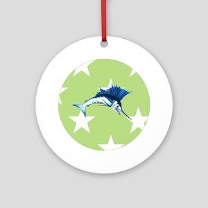 Sailfish green Star Ornament