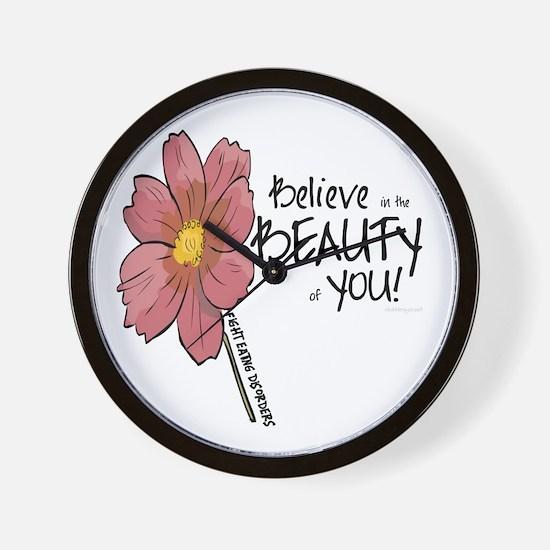 Believe in the Beauty Wall Clock