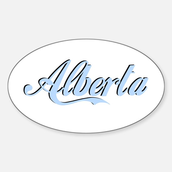 Alberta Oval Decal