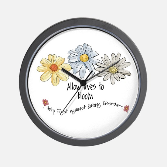 Allow Lives to Bloom Wall Clock
