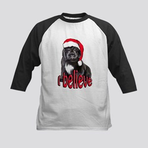 Christmas Newf puppy Kids Baseball Jersey