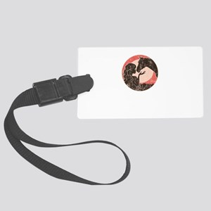 Girl And Horse Large Luggage Tag